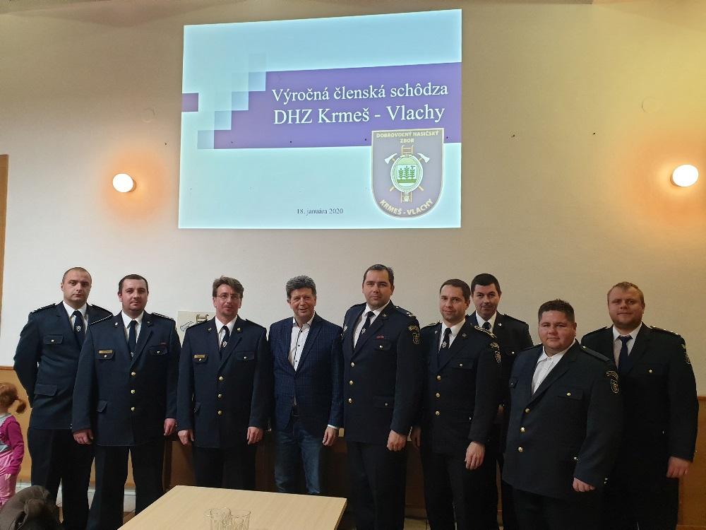 Účastníci výročnej schôdze DHZ Krmeš-Vlachy